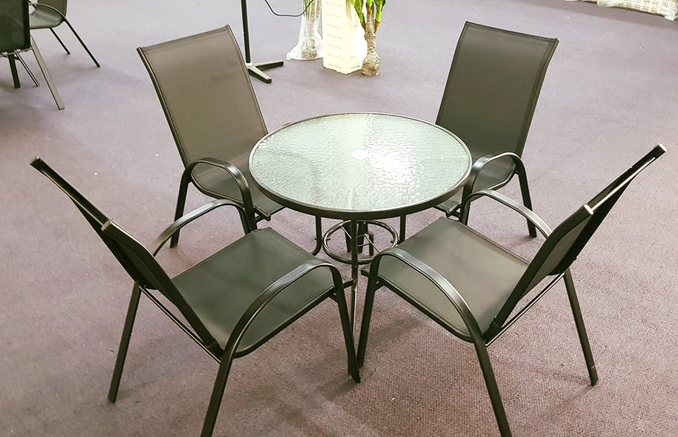 Metal Patio Set With Round Glass Top Table And 4 Chairs 29101775 1635147316606803 8462992091922825216 N